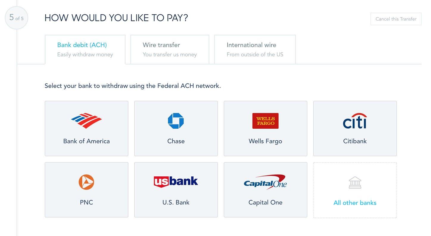 Ach Direct Debit a USD prevod peňazí cez TransferWise