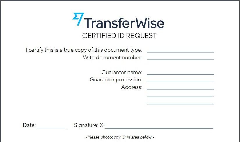 formulár pro ověření id při převodu peněz z kanady